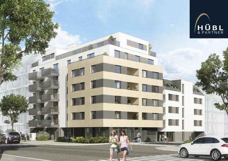 NEUBAU | Gewerbefläche im Erdgeschoß mit Freifläche (50 m²) Saltenstrasse-Ansicht-Groß-Enzersdorferstrasse