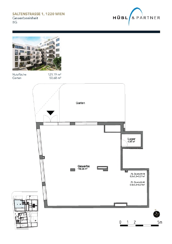 NEUBAU | Gewerbefläche im Erdgeschoß mit Freifläche (50 m²) Verkaufsplan_Gewerbefläche