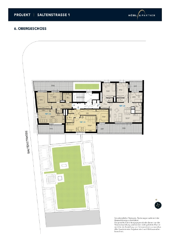 1.32 Geschoßplan_Saltenstraße_6OG